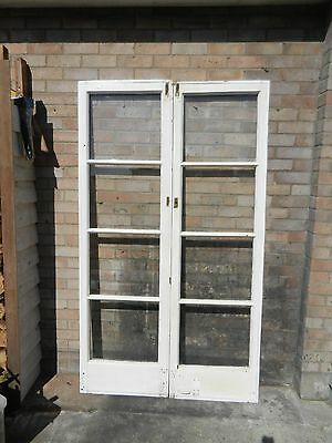Vintage Reclaimed Glazed Georgian Doors 78 x 22 x 2inch. Pair. Used