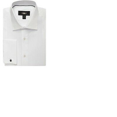 Joseph Abboud White Tuxedo Dress Shirt French Cuff Modern Fit 15 - 34/35
