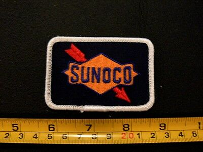 Embroidered patch SUNOCO mint oil gas station racing 1970's automotive cars VTG