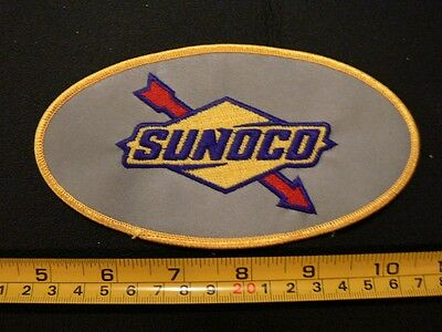 Embroidered patch SUNOCO mint oil gas station racing UNIFORM reflective Large
