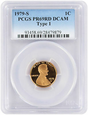 1979-S Type 1 Lincoln Cent PR69RD DCAM PCGS Proof 69 Red Deep Cameo Filled 'S'