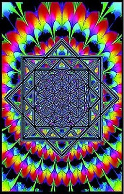 Sacred Geometry - Blacklight Poster - 23X35 Flocked 1952
