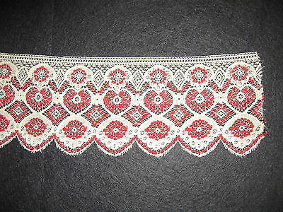 LP32 Antique Victorian Lace Crochet Needle Point Collar Trim Fashion Applique
