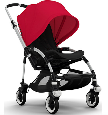 Bugaboo Bee3 Extendable Sun Canopy Red Canvas fabric sun protection UPF 50+ NEW