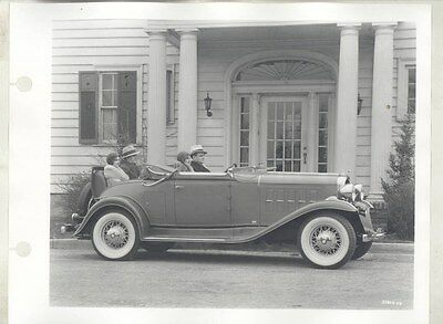 1932 Oldsmobile Convertible & Flappers ORIGINAL Factory Photograph ww9293