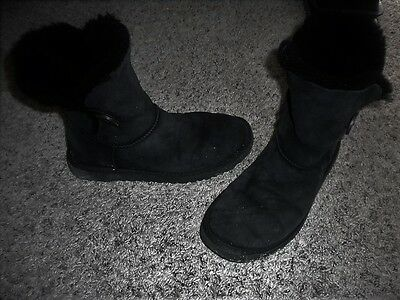 UGG Bailey Button Ankle Boots - Black - Women's Size 8
