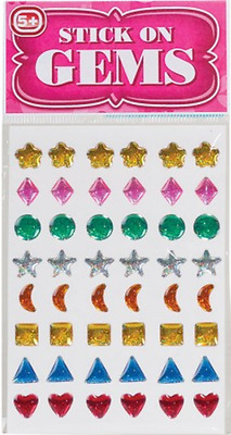 Stick on Gems Self Adhesive Bling Stick on Earrings Stickers Craft Accessory