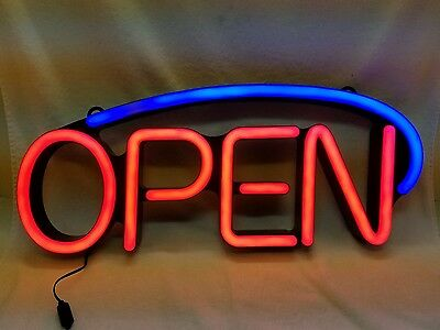 """Led Tube Neon """"open"""" Sign.. Ultra Bright..prefect For Business Door Front!"""