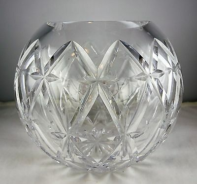 Cut Crystal Rose Bowl - Heavy - Nice