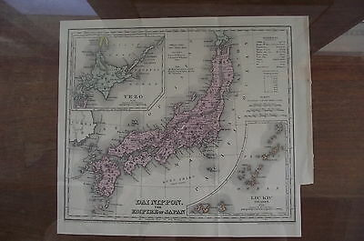 Antique Map Of Dai Nippon - The Empire of Japan - 1875 -Engraving by J.M. Atwood