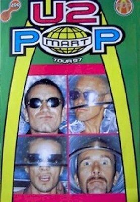 U2 ~ FACES POP MART 23x33 POSTER Music Bono Edge Larry Mullen Adam Clayton