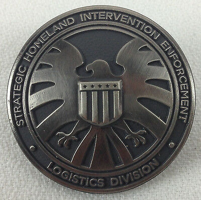 Agents of Shield S.H.I.E.L.D. Marvel Television Series Logo - 3D Die-cut Pin