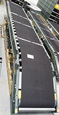 "22 ft x 30"" Wide Inclined Belt Hytrol RBI Conveyor w/ Powerfeed EXCELLENT Shape!"