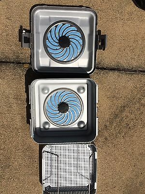 """Aesculap Dbp Steril Container System 11 X 10.5 X 4"""" Sterilizer Tray W/ Basket"""