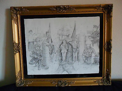 A NICE THE ULSTER DEFENCE REGIMENT DRAWING by TREVOR HERON 1992
