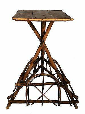 Vintage Adirondack  Folk Arts Crafts twig Rustic Primitive Table