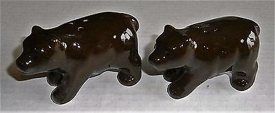 RUSTIC CABIN Salt and Pepper Shakers  BEAR