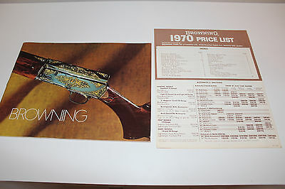 Vintage BROWNING ARMS shotguns and Rifles 1970 CATALOGUE Canada Price List L@@K