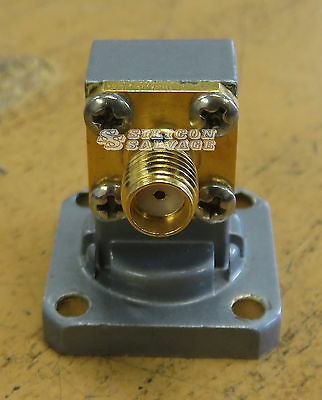 Penn Engineering 1434-1B WR42 Waveguide to SMA Adapter 18-26.5GHz