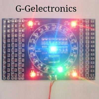 SMD Rotating LED Soldering Practice Board Skill Training DIY Kits    USA SELLER