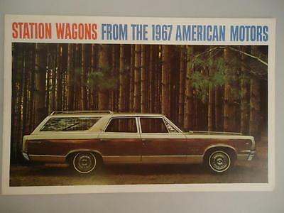 1967 AMC Station Wagons Brochure Ambassador 990 880 Rebel 770 550 Rambler