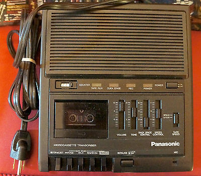 Panasonic RR-930 Microcassette Transcriber Recorder w/headset and manual Used