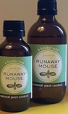 runaway mouse - natural pest control 4 mice 100% peppermint essential oil 200mls