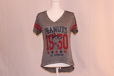 890a9eb2b Freeze 24-7 Juniors Peanuts All-American Graphic T-Shirt New With Tags