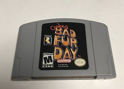 Conker's Bad Fur Day (Nintendo 64, 2001) N64 Cart Only Tested Cleaned Authentic