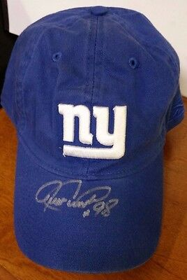 Signed Jessie Armstead #98 GIANTS NFL Hat Money Back Guaranteed 100% Authentic