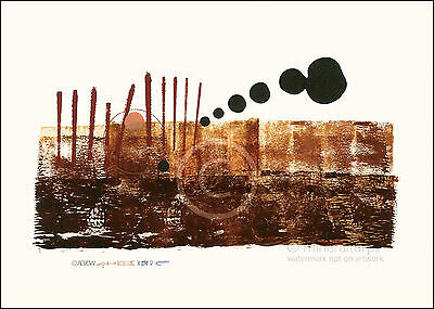 C23 large size art print abstract expressionism by Andre signed and stamped