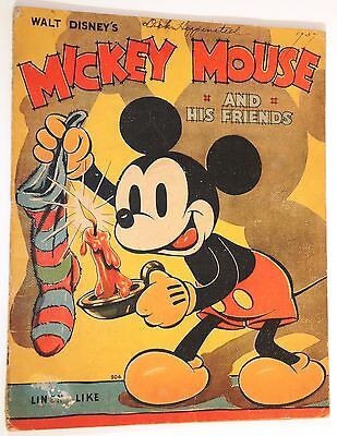 """1936 Walt Disney Enterprises """"Mickey Mouse and His Friends"""" ~ EARLY DONALD DUCK!"""