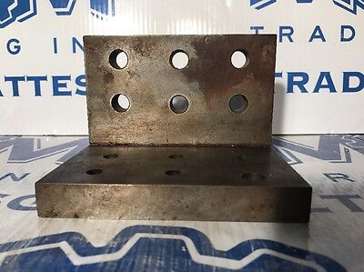 """5-1/2"""" x 4"""" x 4"""" Right Angle Plate Workholding Fixture W/ Threaded & Mount Holes"""