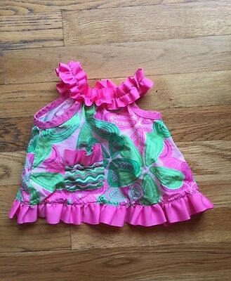 Girls Mud Pie baby 0 6 months Sprouts pink green top 6 months