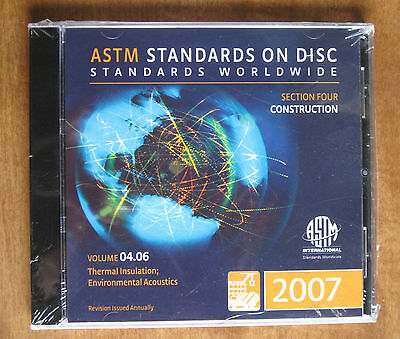ASTM 2007 Standards on Disc Vol. 04.06 Construction  CD NEW FREE SHIP