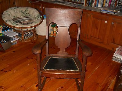Antique Rare Old High Back Rocking Chair . Never Seen Another.