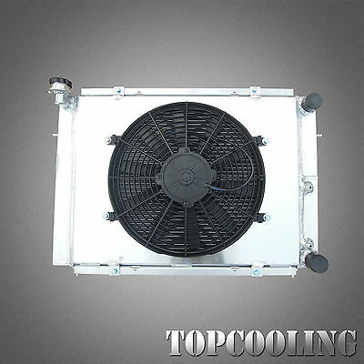 3Row Aluminum Radiator +Fan Shroud For Holden Commodore VL RB30 6Cyl Turbo 86-88