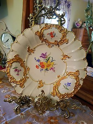"""12"""" Meissen Hand Painted Charger Plate Wall Plaque"""