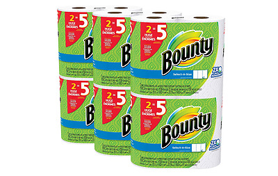 Bounty Absorbent ,White, Huge Roll, 12 Count, White Sheets, 158 Sheets Per Roll