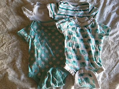 Old Navy Short Sleeve Snap Bodysuit Baby Boys 18-24 Months Lot Of 4