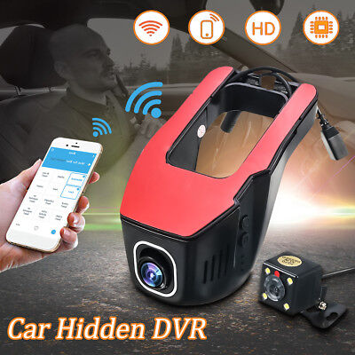 WIFI HD 1080P Dual Lens Car DVR Hidden Dash Car Camera Vehicle Video Recorder