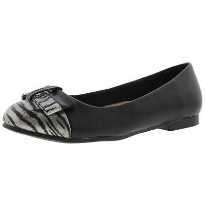 Annie 3968 Womens Eastly Black Round Toe Ballet Flats Shoes 8 Wide (C,D,W) BHFO
