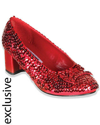 Dorothy Ruby Red Sequined Girls Shoes Size L
