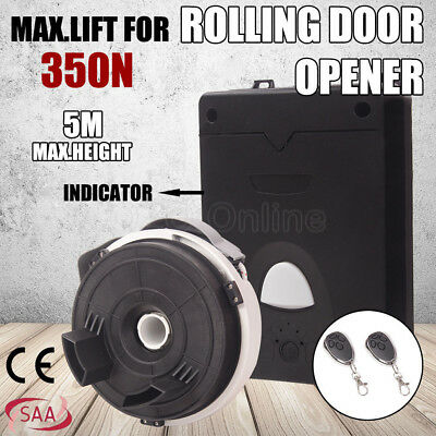 Garage Roller Door Opener Motor LED Rolling Gate Automatic 2x Remote Control 5M