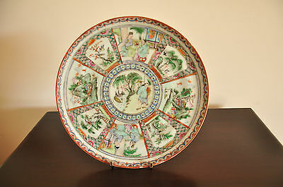 Genuine  Chinese Hand Painted Poecelain Plate -Qing Dynasty