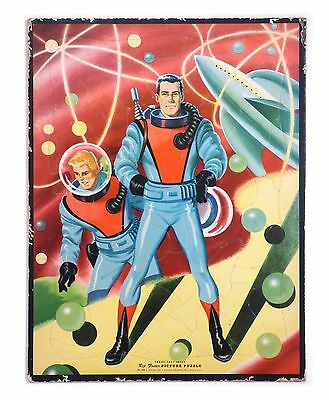 """1953 Original """"RIP FOSTER"""" SPACEMAN PUZZLE Frame Tray Nice & Complete!!!"""