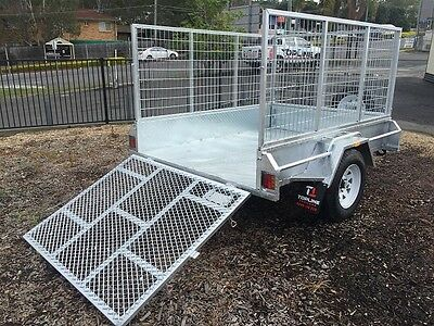 New heavy Duty 8x5 Galvanised Box Trailer  Cage & Ramp available
