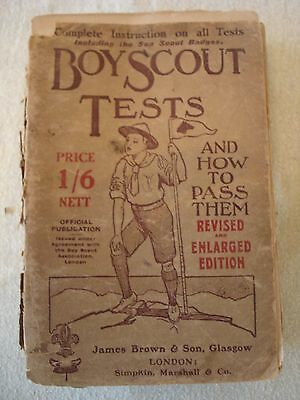 Boy Scout Tests And How To Pass Them by Robert E.Young 1913 Edition