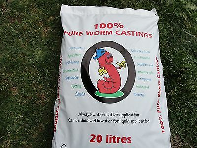 Compost Worm Castings 20Ltrs,10 Litres of Peat Moss,1.2 Litre Worm Juice
