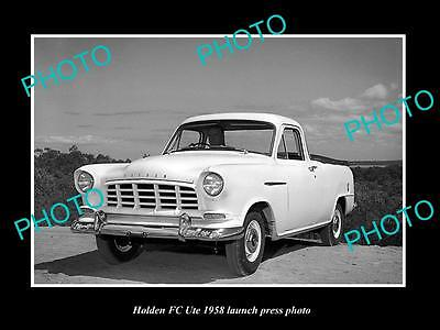 Old Large Historic Photo Of 1958 Holden Fc Ute Launch Press Photo 1